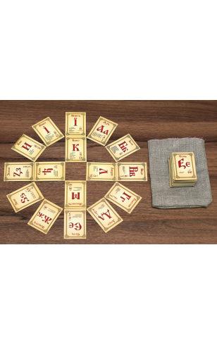 Буквица на магнитах с числами